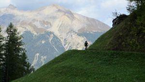 Blick auf Lenzerhorn (2.906m)