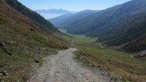 Auffahrt zur Sesvenna Hütte